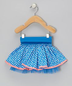 Take a look at this Blue Daisy Skirt - Infant by Mim Pi on #zulily today!