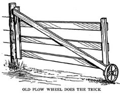 """This might be the perfect gate, but with 1/2"""" wire strung on the inside of the gate  to keep curious critters from getting outHandy Farm Devices - Cobleigh - chapter 8"""