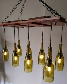 Wine Bottle Chandelier RESERVED Item currently on by MrFoxCustoms