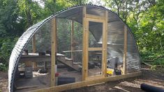 Rabbit Shelter Made from a Trampoline