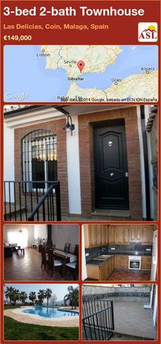3-bed 2-bath Townhouse in Las Delicias, Coin, Malaga, Spain ►€149,000 #PropertyForSaleInSpain