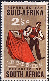 South Africa 1962 SG 221 Volkspele  folk-dancing  Fine Mint SG 221 Scott 281  Other South African Stamps HERE