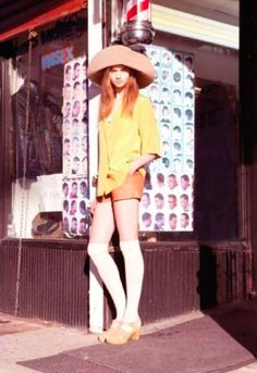 Fashion in the 1970s began with a continuation of the mini skirts, bell-bottoms, and the androgynous hippie look from the late 1960s and eve...
