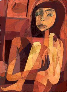 Toshihiko Okuya, study #046 on ArtStack #toshihiko-okuya #art