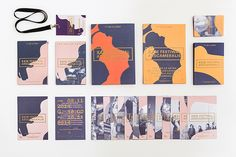Sculpture-inspired identity for arts festival by Marta Gawin