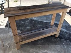 Image of: diy pallet sofa table hallway sofa table made from pallets things built pallet Pallet Entry Table, Pallet Sofa Tables, Diy Entryway Table, Rustic Console Tables, Diy Sofa Table, Diy Pallet Sofa, Pallet Headboards, Pallet Benches, Pallet Cabinet