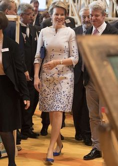 On October 12, 2017, Queen Mathilde of Belgium visited the 2017 Frankfurt Book Fair (Frankfurter Buchmesse) in Frankfurt am Main, Germany. The 2017 fair, which is among the world's largest book fairs, is open to the public from October 11-15. This year's guest of honour is France.