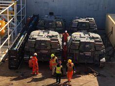 Quatro VBCOAP M-109 chegam ao Brasil no final de fevereiro.