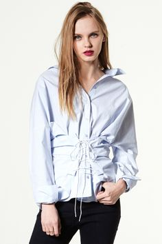 Chantel Lace Up Shirt - storets.com
