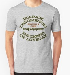 "Sold! 1 Small Unisex Tee in Heather Grey - ""Hapax Legomenon #5"" by appfoto #RedBubble #Tee #fashion #design #tedloveday"