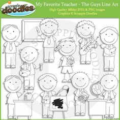 My Favorite Teacher - The Guys Line Art