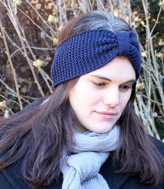 Stirnbänder - Stirnband Ohrenwärmer Haarband 100% merino blau - ein Designerstück von lucieandcate bei DaWanda