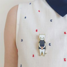 Audrey Jeanne   Cat pin