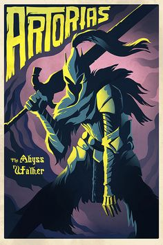 Dark Souls Poster Knight Artorias Print by Crowsmack Knight, Soul Saga, Video Game Poster Art, Dark Souls Art, Soul Game, Poster Art, Art, Soul Art, Gaming Wall Art