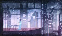 I like how the background has aspects of a figure ground relationship with the buildings and the stary mist.