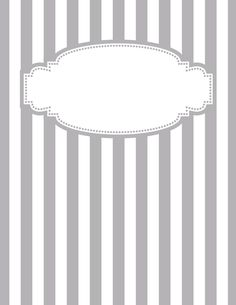 Free printable gray and white striped binder cover template. JPG and PDF versions available. Notebook Cover Design, Notebook Covers, School Binder Covers, Binder Cover Templates, Home Management Binder, Notebook Paper, Printable Planner, Printable Calendars, Free Printables