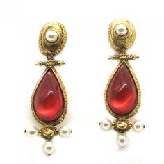 C.LACROIX, boucles d'oreilles pendantes vintage