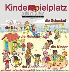 Kinderspielplatz ☺️Deutsch Wortschatz Grammatik German Alemán DAF Vocabulario