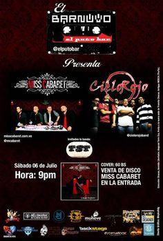 """Cresta Metálica Producciones » BAR NUVO EL PUTO BAR presenta: """" MISS CABARET, CIELO ROJO Y TST"""" (Caracas) // 06-07-2013"""