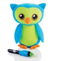 "I'm not a kid, but I really want one of these! Glow Pal Plush. $19.99. Cuddly 11 1/2"" H x 9"" W plush owl has a glow-in-the-dark belly you can write on with the included LED pen (takes 2 AAA batteries, not included). Includes 4 paper stencils. Ages 6 and up. Adult supervision required. Polyester, plastic."