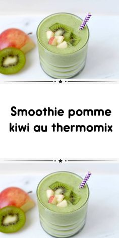 Smoothie Detox, Smoothie Pomme Kiwi, Raspberry Smoothie, Kiwi Dessert, Recipe For Teens, Thermomix Desserts, Clean Eating Snacks, Brunch, Food And Drink