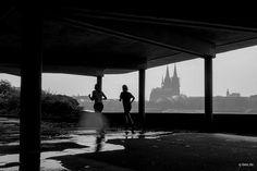 Rheinterassen im Regen