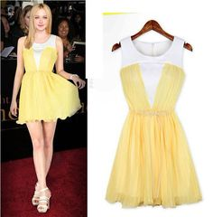 Canary Yellow Sweet Dress – Dress Me Good