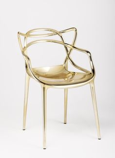 New to the showroom- the Kartell Masters Chair in Gold. Designer ...