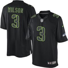 f4a09178abc Elite Men s Black Russell Wilson Jersey -  3 Seattle Seahawks Impact NFL  NK281029 Seahawks Game
