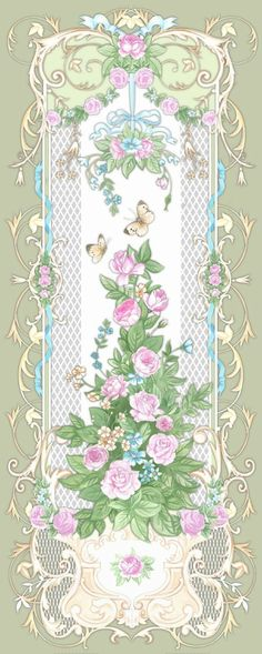 panels ` Baroque` on Behance Motif Arabesque, Decoupage, Wall Art Wallpaper, Shabby, Paper Embroidery, Textile Prints, Vintage Flowers, Flower Art, Design Elements