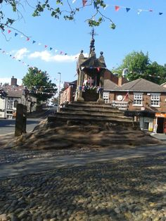 Sunny Lymm - The Cross I can still remember playing on when we walked into the village, scrambling up the sides to sit at the top  happy days!