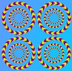 optical illusion art   Optical Illusion Spinning Water Lilies Digital Art