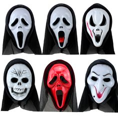 Halloween Horror Ghost Death Monolithic Screaming Grimace Mask Halloween Scream Mask Prop For Adult Kids Toys Wholesale Mode Halloween, Alice Halloween, Ghost Halloween Costume, Scary Halloween Masks, Halloween Masquerade, Scary Mask, Halloween Horror, Halloween Party, Halloween Man