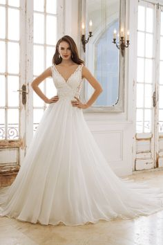 Sophia Tolli Y11882 Peri Designer Wedding Dresses Mon Cheri V Neck