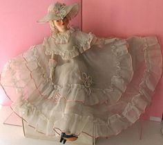 RARE-Antique-Vintage-1920s-30s-DECO-Flapper-BLOSSOM-Boudoir-Bed-Doll-FABULOUS-A