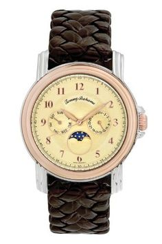 Tommy Bahama Swiss Men's TB1065 Moon Phase Pineapple Watch Tommy Bahama Swiss. $380.00. Precise Swiss-quartz movement. Stainless-steel case; pineapple dial; date function. Water-resistant to 165 feet (50 M). Mineral crystal. Case diameter: 41.7 mm