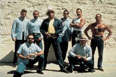 Blood in blood out. The Council. Posing for popeye's parole picture.