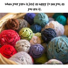 Adorable! I will always see happy faces on my yarn now!
