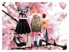 """""""Flower Inspired"""" by selvitellisam ❤ liked on Polyvore featuring Bling Jewelry, Forever 21 and Maybelline"""