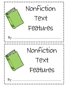 Students can use this book to help keep track of their understanding of nonfiction text features. Text features included in this book are: *Table...