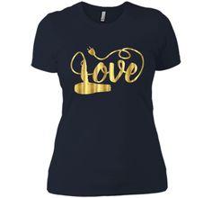 Valentines Day Shirt Love Hair Stylist Hairdresser Gift Gold