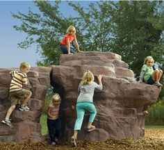 Playscape Creations, partnering with Landscape Structures- is committed to creating inspiring play experiences for children while honouring the environment. Natural Playground, Playground Ideas, Fake Rock, Architectural Sculpture, Landscape Structure, Autumn Park, Landscaping Supplies, Playgrounds, Kid Spaces