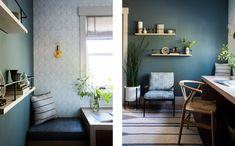 Sunset Idea House — Lauren Nelson Design Study Interior Design, Interior Decorating, Scandinavian Interior Doors, Home Office, Entryway, Shelves, Sunset, Furniture, Home Decor