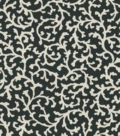 Waverly Home Decor Print Fabric Coral Cascade Onyx
