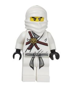 Lego Ninjago Zane - White Ninja Minifigure - inspiration for Henry's Halloween costume - since very off-the-rack versio of this is sold out - Looks like I'll be crafty this week! Ninjago Cakes, Ninjago Party, Lego Ninjago Minifigures, Lego Penguin, Pokemon, Lego Toys, Lego Worlds, Legoland, Building Toys
