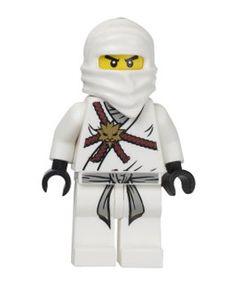 Lego Ninjago Zane - White Ninja Minifigure by LEGO. $9.97. Choking Hazard for Children 3 and Under. Zane ~ Lego Ninjago White Ninja. Includes Random Weapon. Approximately 2 Inches Tall. Loose minifigure only