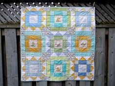 A few months ago I was approached to do a commission for a baby quilt. The baby's sex wouldn't be known prior to birth (although I can tell ...