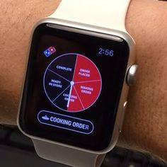Track your pizza order on Apple watch