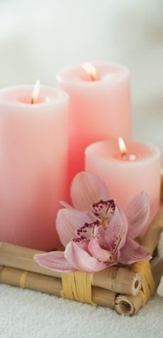 Pink candles, like a hug from yourself.