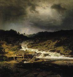 Werner Holmberg: Kyröskoski, 1854. Ateneumin taidemuseo.